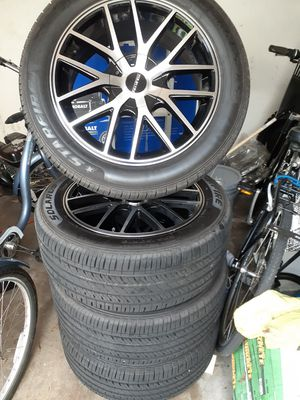 235/50/18 NEW WHEELS AND TIRES NEW, UNIVERSAL $500!! for Sale in BVL, FL