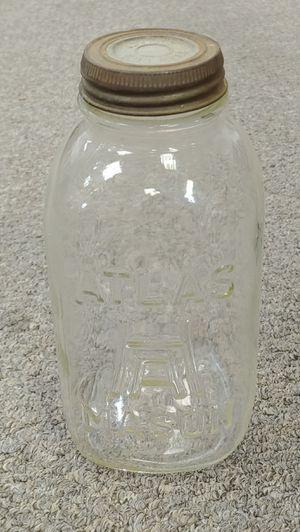 Antique Atlas Mason Jar With Glass Lid #13 O for Sale in Burlington, NC