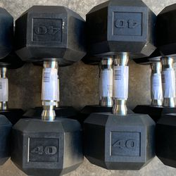 40 LB Hex Dumbbell Sets for Sale in San Diego,  CA