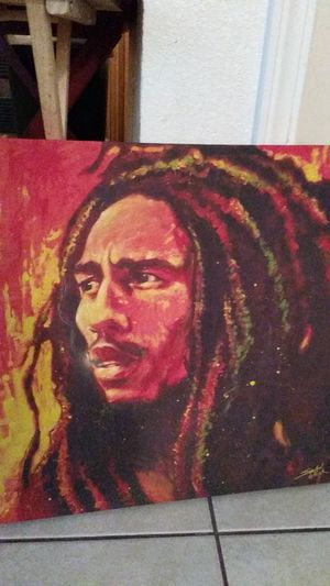 Bob Marley canvas painting for Sale in Riverside, CA