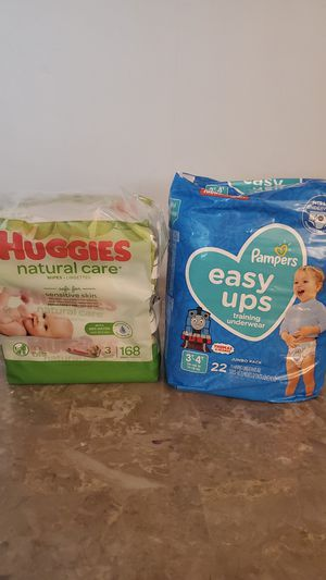 Pampers Easy Ups & huggies wipes for Sale in Federal Way, WA
