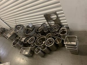 STAINLESS STEEL CONTAINERS (RESTAURANT SUPPLIES) for Sale in Whittier, CA