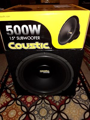 """NEW 15"""" Subwoofer in box with Amp! for Sale in Nashville, TN"""