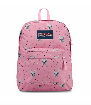 French bulldog pink backpack Jansport trans SuperMax Pink school book bag NEW WITH TAGS for Sale in San Antonio, TX