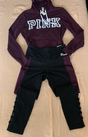 Victoria's Secret Pink Full zip Hoodie/Leggings for Sale in Bell, CA