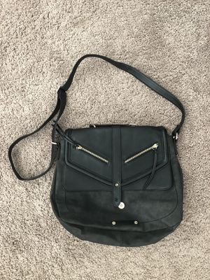 Black leather messenger bag/purse for Sale in SeaTac, WA