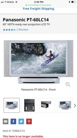 """Panasonic 52"""" tv with High definition sound for Sale in Herndon, VA"""