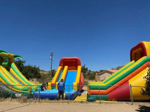 Jumpers chairs tables canopies portable restrooms heaters waterslides for Sale in Los Angeles, CA