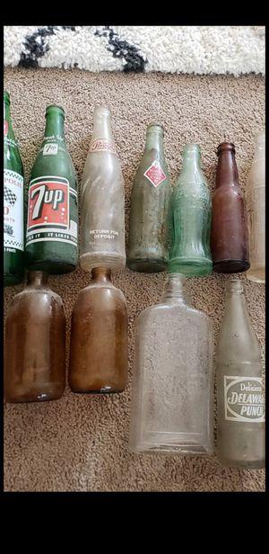 Vintage antique beer and soda bottles for Sale in Queen Creek, AZ