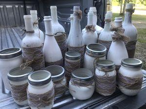 Decorative bottles/mason jars for Sale in Pine River, MN