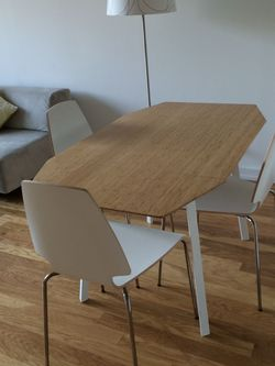 White Extendable IKEA Desk for Sale in Brooklyn,  NY