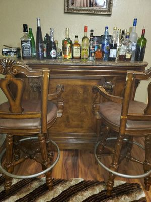 Wooden bar set for Sale in Ankeny, IA