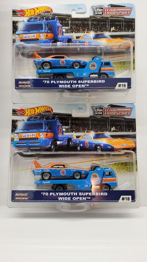 (2) 2020 HOT WHEELS TEAM TRANSPORT 70' PLYMOUTH SUPERBIRD *VHTF* for Sale in Overland Park, KS
