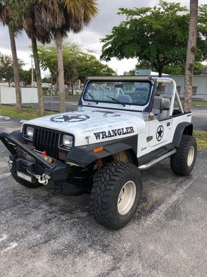 Jeep Bumper with cable Winch ! for Sale in Coral Springs, FL