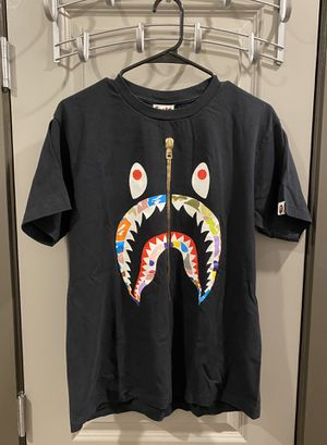 Bape Multi Camo Shark Tee Black for Sale in Austin, TX
