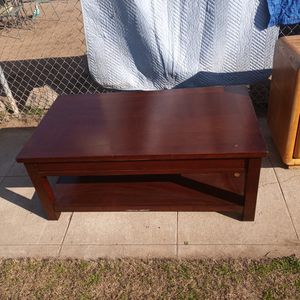 Coffee Table Dark Cherry Wood for Sale in Fresno, CA