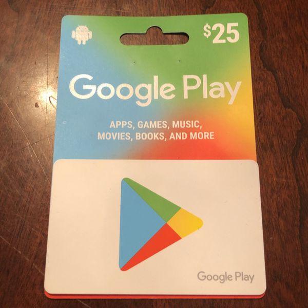 $25.00 google play card