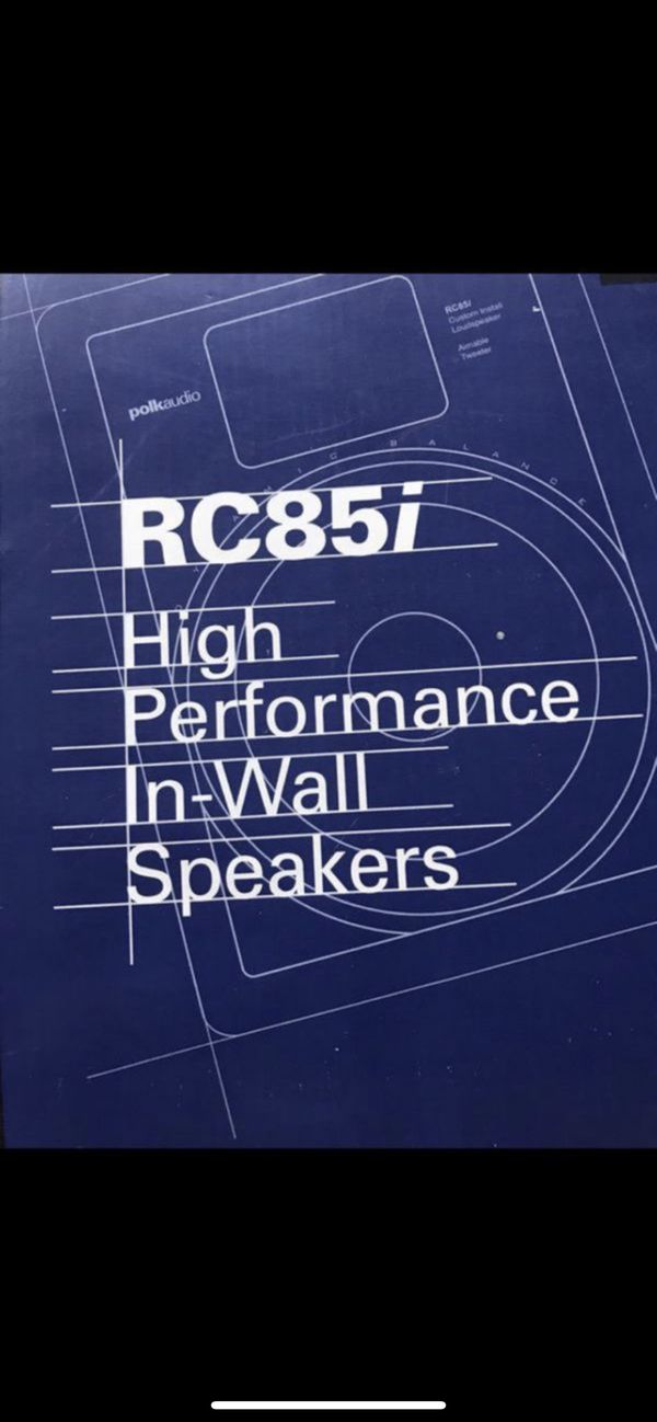 Polk audio wall speakers (new