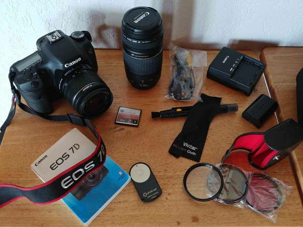 Canon EOS 7d bundle camera lenses accessories
