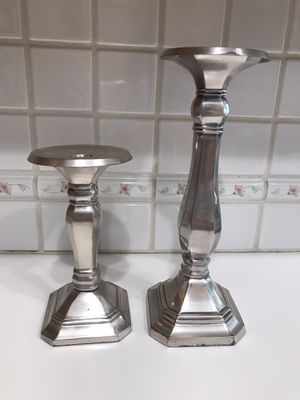 Pewter Candle Stick Holders by Pottery Barn for Sale in Rancho Cucamonga, CA