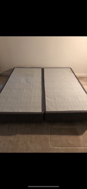 King Size Box Springs & Metal Frame for Sale in Silver Spring, MD