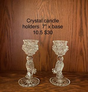 Crystal candle holders. $30 for Sale in Columbia, SC