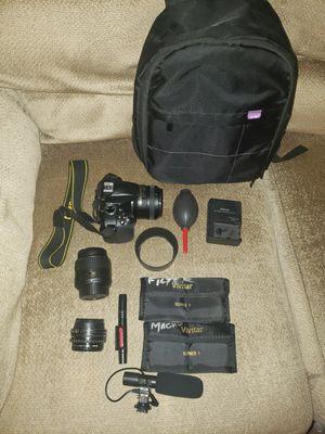 Nikon D3300 camera, lenses, accessories for Sale in San Bernardino, CA