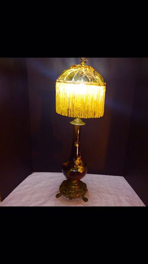 Gold painted glass lamp for Sale in Grosse Pointe Park, MI