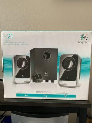 Logitech LS21 2.1 Stereo Speaker System (Black) for Sale in Alameda, CA