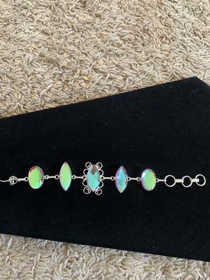 Rainbow pink quartz silver gem bracelet 35$ firm for Sale in Elk Grove, CA