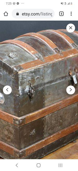 Vintage 1870's hunchback dome trunk for Sale in Arlington, TX