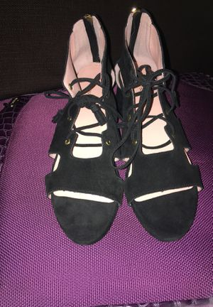 Taryn Rose Black Suede Lace-up Sandal Size 9.5 for Sale in Sudbury, MA