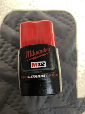 Milwaukee battery 2.0 for Sale in Dallas, TX