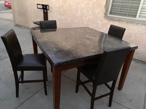 Marble Dinner table 6 chairs for Sale in Etiwanda, CA