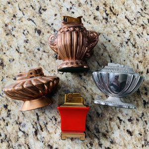Lot of 4 Vintage Antique Set of Heavy Duty Metal Table Lighters for Sale in Fremont, CA