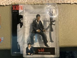 "Scarface Medco action figure Al Pacino as Tony Montana "" THE FALL WITH MACHINE GUN AND REMOVEABLE CLIP "" in original packaging for Sale in Henderson, NV"