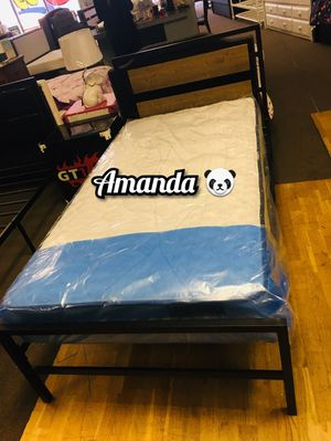 Twin bed frame with pillow top mattress included for Sale in Glendale, AZ