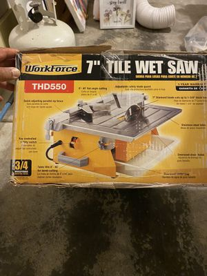 Tile wet saw for Sale in Puyallup, WA