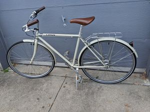 Linus City/road 700c bike,tall bike,hand stitch hand grip,8speed with rack for Sale in Pawtucket, RI