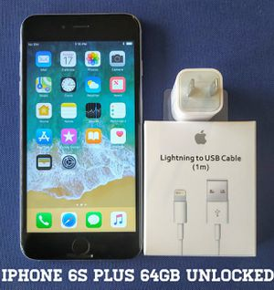 Iphone 6S Plus (64GB) Factory-UNLOCKED + Accessories for Sale in Falls Church, VA
