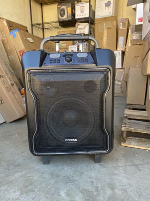 """EARISE M60 Portable PA System Bluetooth Loudspeaker with 2 Wireless Microphone,10"""" Subwoofer, Remote Control, Aux Input, Soft Metal, LED Display, Tel for Sale in San Diego, CA"""