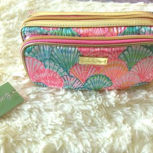 Lilly Pulitzer Oh Shello Travel Makeup Cosmetics Bag for Sale in Phoenix, AZ