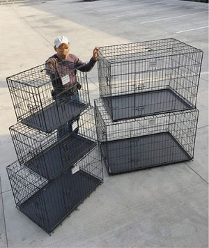 """New $25 to $65 range 24"""" 30"""" 36"""" 42"""" 48"""" foldable 2 doors dog cage crate kennel collapsible jaula de perro for Sale in Pico Rivera, CA"""