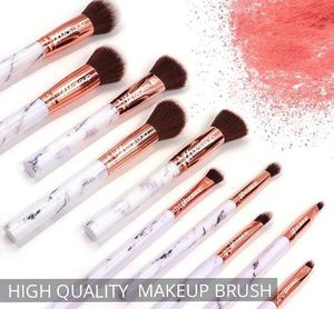 10pcs professional marble makeup brush set with cosmetic bag for Sale in Los Angeles, CA