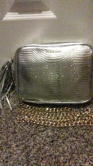 Victoria's Secret silver purse with gold strap never used for Sale in Las Vegas, NV
