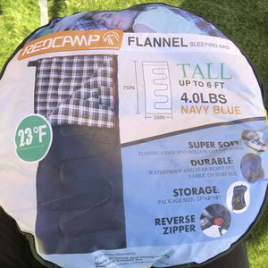 New RedCamp Flannel Cotton Adult Sleeping Bag 4lbs Filling for Sale in Riverside, CA