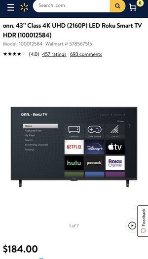 New 43 inch Roku Smart Tv - Still in box for Sale in Fairfax, VA