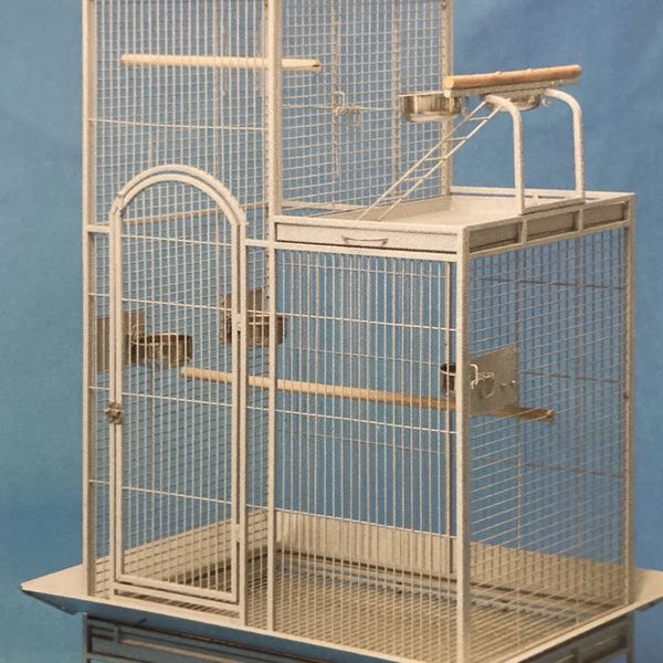 Wrought Iron Parrot Cage with Stand BRAND NEW