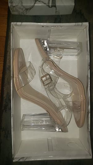 Clear block heels for Sale in Hampton, VA