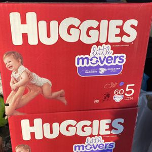Huggies Diapers Little Movers Size 5 for Sale in Philadelphia, PA